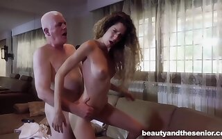 Blonde babe with long, curly hair is occasionally having casual sex with her ex lover