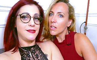 Mya With an increment of Flora Enjoy Unsatisfactory Lesbian Sex Boxing-match With Mya Lorenn