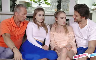 Two teens get to know their stepfathers and they love steamy foursomes