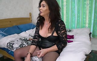 Mature Ts Celine In Old Trans . Gently Dominates Frying Younger Transexual Cookie
