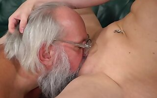Excited grandpa can't wait fro fuck that young pussy