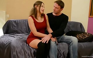 Amateur is obtainable to remove her black undies for chum around with annoy tastiest dick