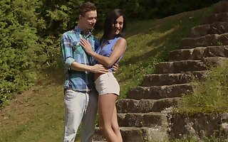 Sensual lovemaking overage with cum approximately brashness for adorable Nikki Fox