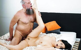 Horny Brunette's Pussy Aches For Vintage Cock!
