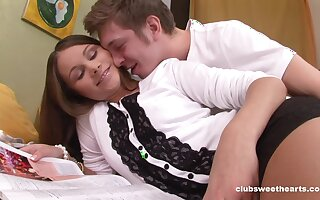Non-fatal pussy licking leads to passionate fucking with Liza Shay