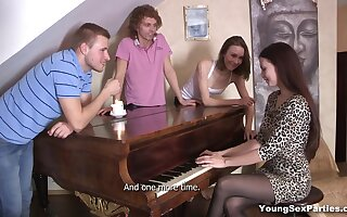 Russian group sexual congress tapes featuring two naughty girls from Russia