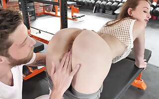 Fit redhead bends ass for some good cock