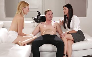 FFM threesome with beautiful India Summer and Alexa Behoove - HD