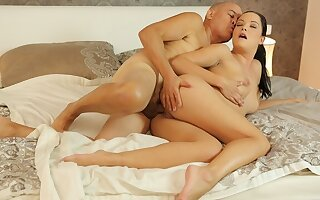 DADDY4K. Hungry belle penetrated with old penis
