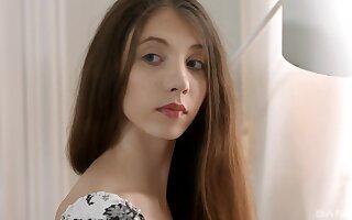 Gorgeous teen amateur Stefanie Moon ass fucked hardcore