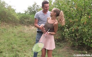 Teen whore Tiffany Tatum in a hardcore outdoor fuck session
