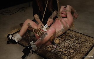 Body covered in wax and a screaming orgasm for a blonde kinky teen