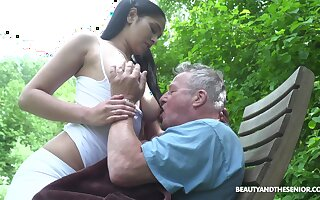 Busty sitter Ava Black bangs cur� and takes cumshots on her massive boobs