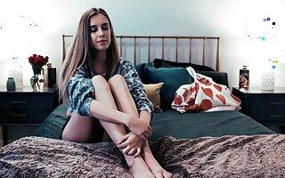 Horny lesbian milf Tasha Reign seduces pretty lodger Haley Reed and licks her teen pussy