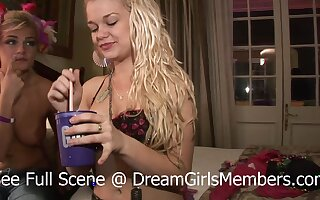 Two Slutty Blondes Party Naked Alongside Mardi Gras Hotel Room - DreamGirlsMembers