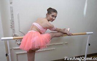 Bad Ballerina Taylor Krystal Loses Ass Fuck Virginity