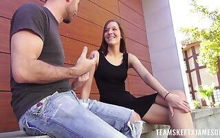 Dude fucks sex-appeal teen all over perky tits Molly Manson