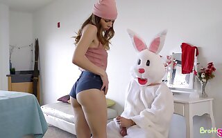 Lusty young ungentlemanly Lily Adams rides muddied cock of fluffy dressed dude