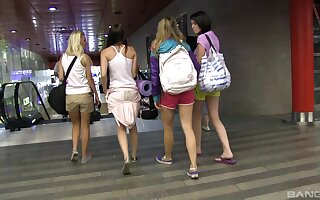 Naughty girls go on holiday to fulfill their lesbians fantasies together