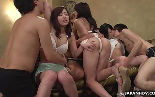 Wondrous cutie Maria Ono just loves nothing but horny orgy fun