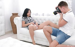 Ardent lovemaking on the bed here adorable GF Jessica Lincoln